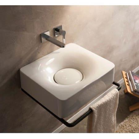 Nameeks Scarabeo 6001 No Hole White 19 3 4 Ceramic Wall Mounted Vessel Bathroom Sink Faucet Com