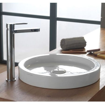 Nameeks scarabeo 8810 no hole white no hole scarabeo 16 for Nameeks bathroom sinks