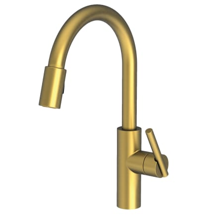 Newport Brass 1500 5103 06 Antique Brass East Linear Pull Down Spray