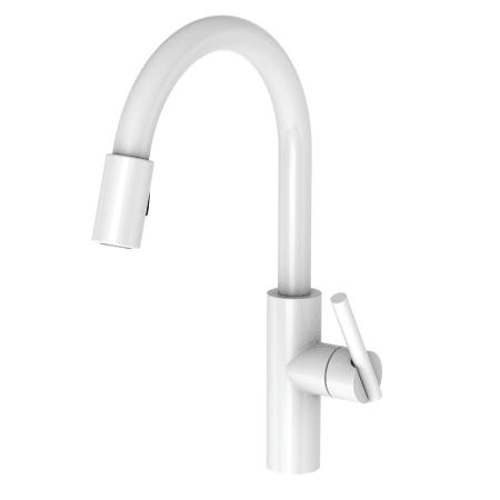 Newport Brass 1500 510350 White East Linear Pull Down Spray Kitchen