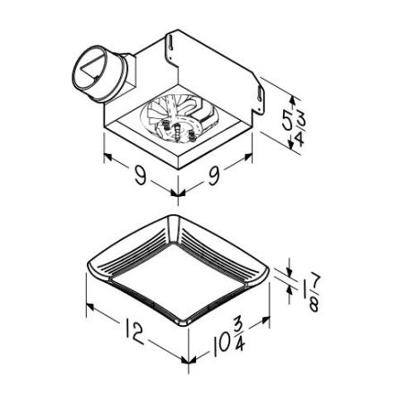 Nutone 769rl White 70 Cfm 3 Sone Ceiling Mounted Hvi Certified Bath