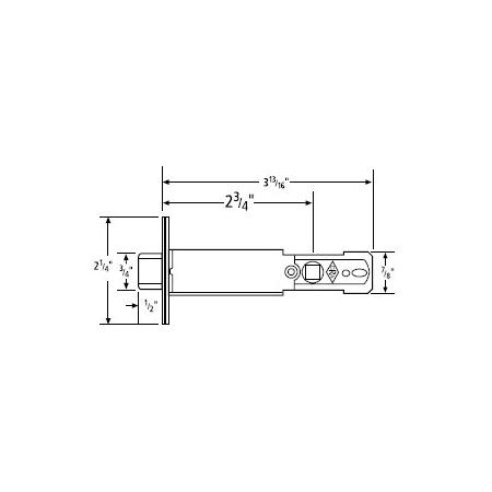 Omnia 105lpa34 Vb Vintage Brass Passage Lever Replacement