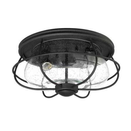 Park Harbor Phel5003blk Black Back Creek 2 Light 15 Wide Outdoor Flush Mount Ceiling Fixture