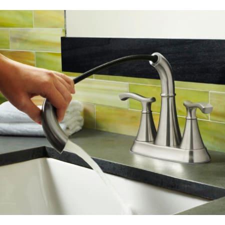 Pfister F 548 Idkk Brushed Nickel Ideal Centerset Bathroom Sink