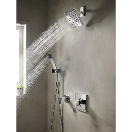 Pfister Bk89 7dfk Brushed Nickel Kenzo Shower System With