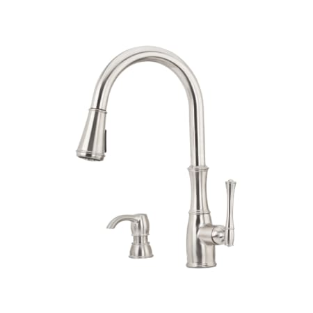 Pfister F5297why Wheaton 1 Handle Pull Down Kitchen Faucet With Soap
