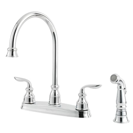 Pfister Gt36 4cbc Polished Chrome Avalon High Arc Kitchen Faucet With Flex Line Supply Lines And