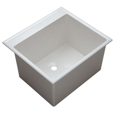 Proflo Pflt2522d White 24 1 2 Quot Single Basin Drop In