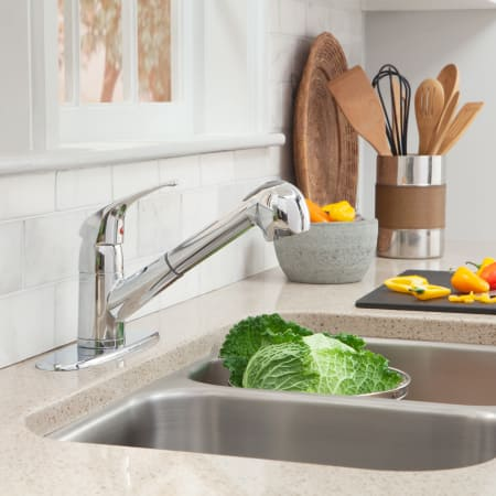 Proflo Pfxc5150cp Chrome Pullout Spray Kitchen Faucet With