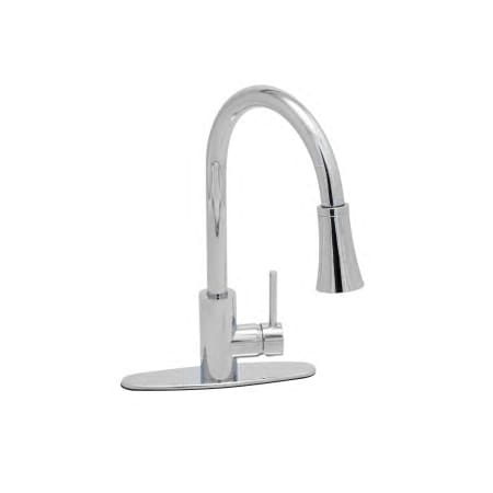 ProFlo PFXC7011CP Chrome Pullout Spray Kitchen Faucet with Optional ...