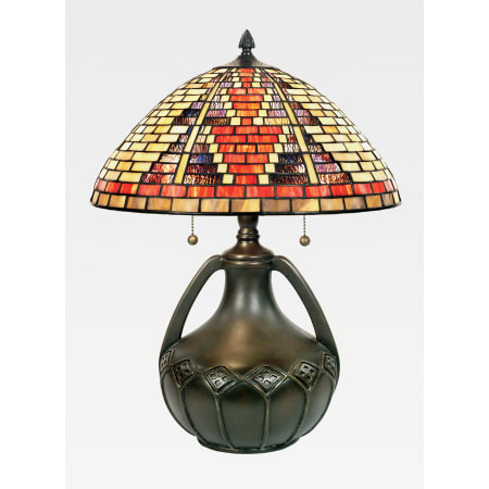 Quoizel Undefined Multi Stained Glass Tiffany Table Lamp From The