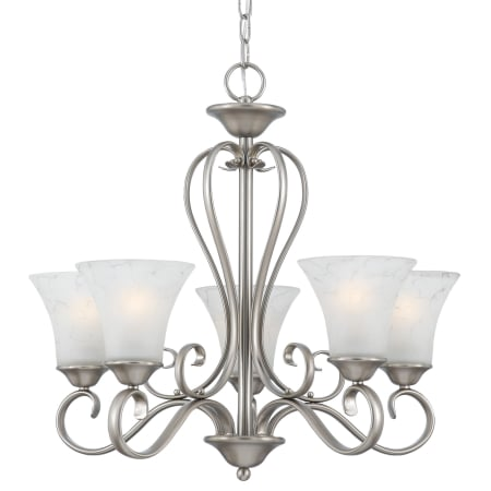 """Dh Auto Sales >> Quoizel DH5005AN Antique Nickel Duchess 5 Light 25"""" Wide Uplight Chandelier with Grey Marble ..."""