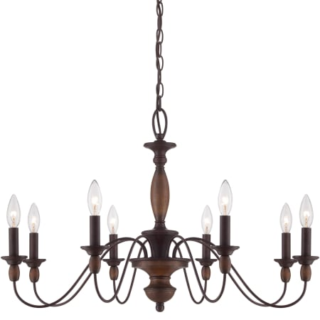 quoizel hk5008tc tuscan brown holbrook 8 light 29 wide candle style