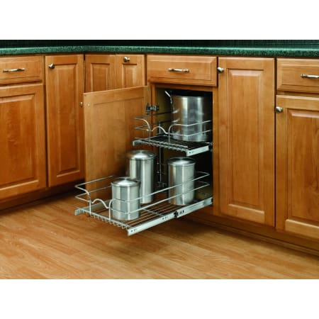 Rev a shelf 5wb2 1522 cr chrome 5wb series 15 wide by 22 for 22 deep kitchen cabinets