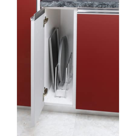 Rev a shelf 596 10cr 52 chrome 596 series u shaped tray - Vertical tray dividers kitchen cabinets ...