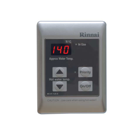 rinnai mc 91 1s silver standard tankless water heater remote controller with 98 140 f. Black Bedroom Furniture Sets. Home Design Ideas