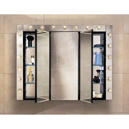 Robern Plm3630b Black 36 Triple Door Mirrored Medicine Cabinet