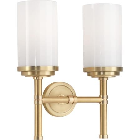 Robert Abbey 1325 Brushed Brass Halo 11 2 Light Vanity Light Lightingshowplace Com