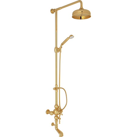 Rohl AC414L-IB Inca Brass Arcana Shower System with Exposed ...