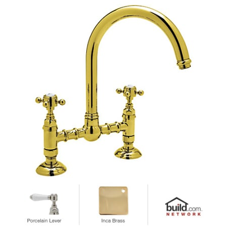 rohl country kitchen bridge faucet rohl a1461lpib 2 inca brass country kitchen bridge faucet 25593
