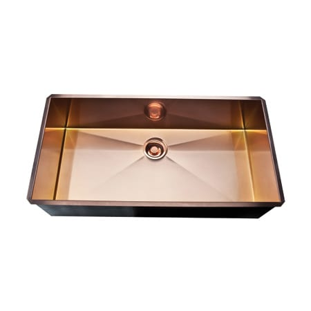 A Large Image Of The Rohl Rss3618 Stainless Copper