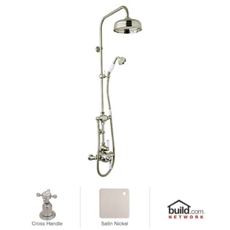 Rohl U Kit1x Apc Polished Chrome Perrin And Rowe Shower System With