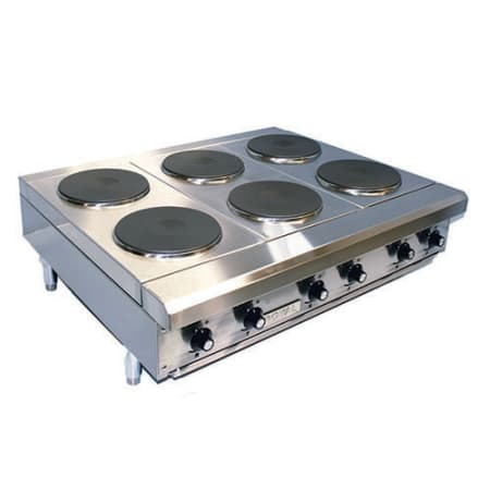 36 Electric Range >> Royal Range Rhpe 36 6 36 Electric Hot Plate With 6 Burners