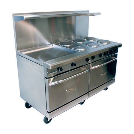 60 Electric Range 6 Burners 2 Ovens And 24 Griddle
