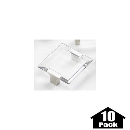 Schaub And Company 315 15 Cl 10pack Satin Nickel Clear