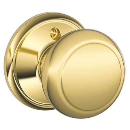 Schlage F170and605 Polished Brass Andover Single Dummy