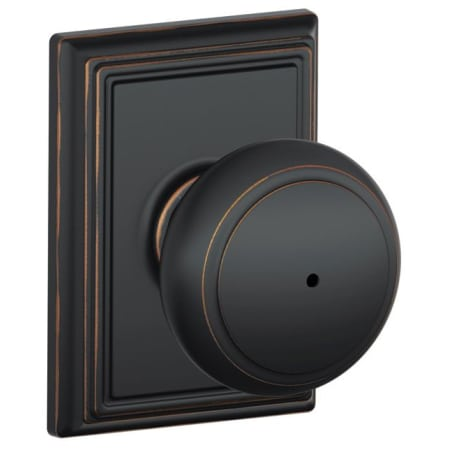 Schlage F40and605add Polished Brass Privacy Andover Door