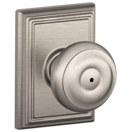 Schlage F40geo619add Satin Nickel Privacy Georgian Door