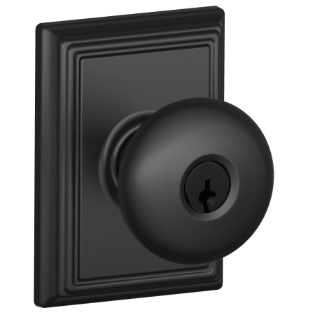 Schlage F51aply622add Matte Black Keyed Entry Plymouth