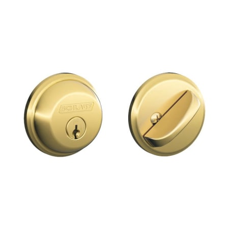 Schlage B60605t Polished Brass Single Cylinder Grade 1