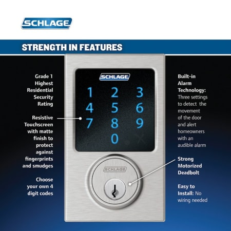 Schlage F800cen625lat Bright Chrome Century Complete House
