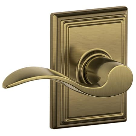 Schlage F10acc609add Antique Brass Passage Accent Door