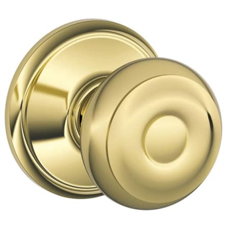 Schlage F10geo605 Polished Brass Georgian Passage Door