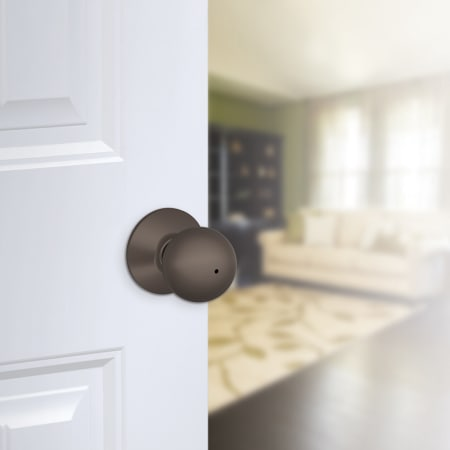 Schlage F40orb609 Antique Brass Orbit Privacy Door Knob