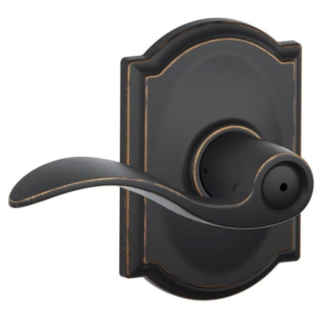 Schlage F40acc716cam Aged Bronze Accent Privacy Door Lever
