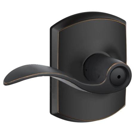 Schlage F40acc716grw Aged Bronze Accent Privacy Door Lever