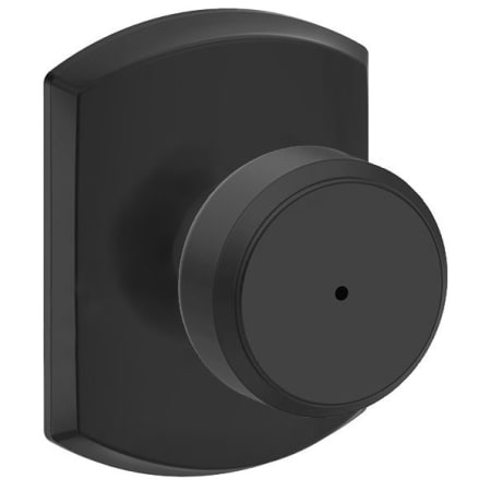 Schlage F40bwe622grw Matte Black Bowery Privacy Door Knob