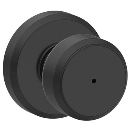 Schlage F40bwe622gsn Matte Black Bowery Privacy Door Knob