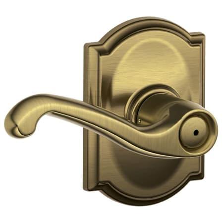 Schlage F40fla609cam Antique Brass Flair Privacy Door