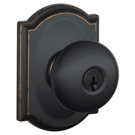 Schlage F51aply716cam Aged Bronze Plymouth Keyed Entry