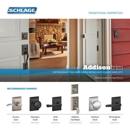 Schlage F58add505 Lifetime Polished Brass Addison Single
