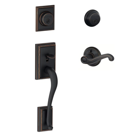 Schlage F62add716flarh Aged Bronze Right Handed Double