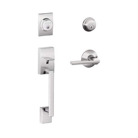 Schlage F62cen625lat Polished Chrome Century Double