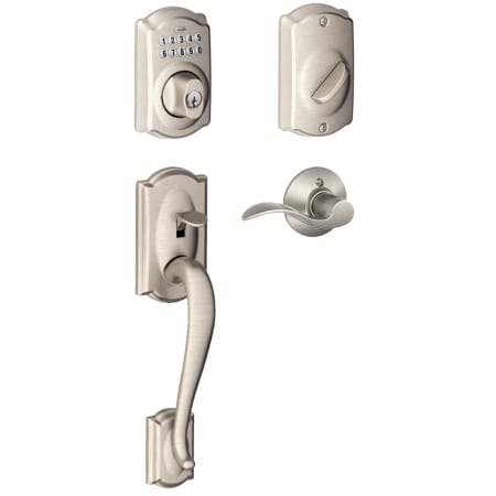 Schlage Fe365cam619accrh Satin Nickel Right Handed Camelot