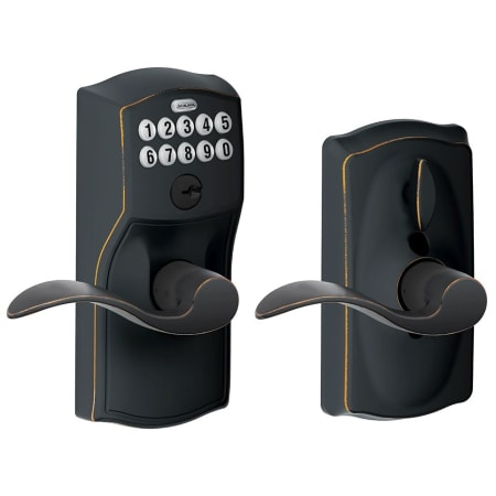 Schlage Fe595cam716acc Aged Bronze Camelot Keypad Entry