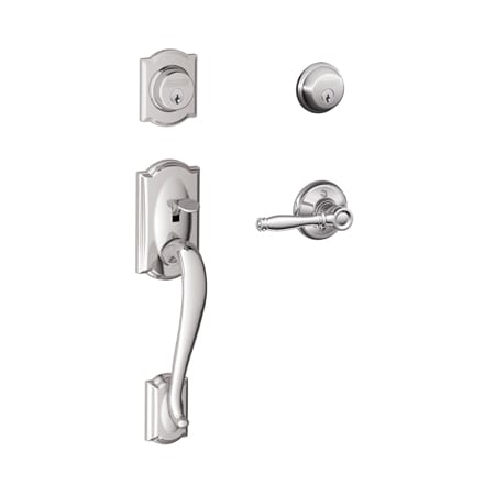 Schlage F62cam625bir Polished Chrome Camelot Double
